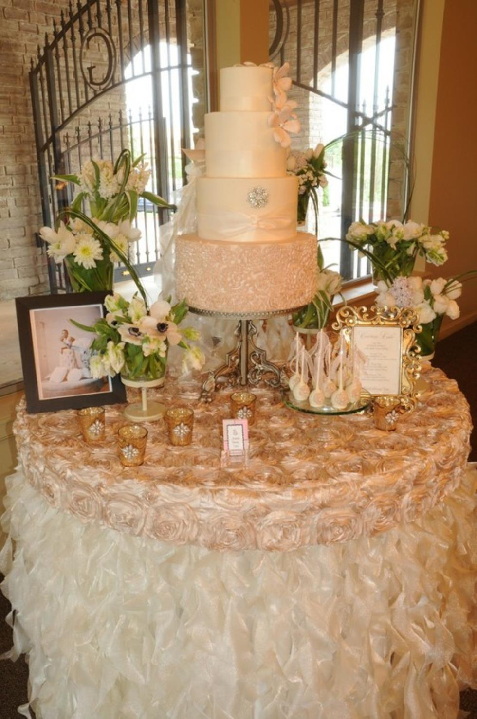 Marianne S Rentals Curly Willow Sparkle Organza Ivory
