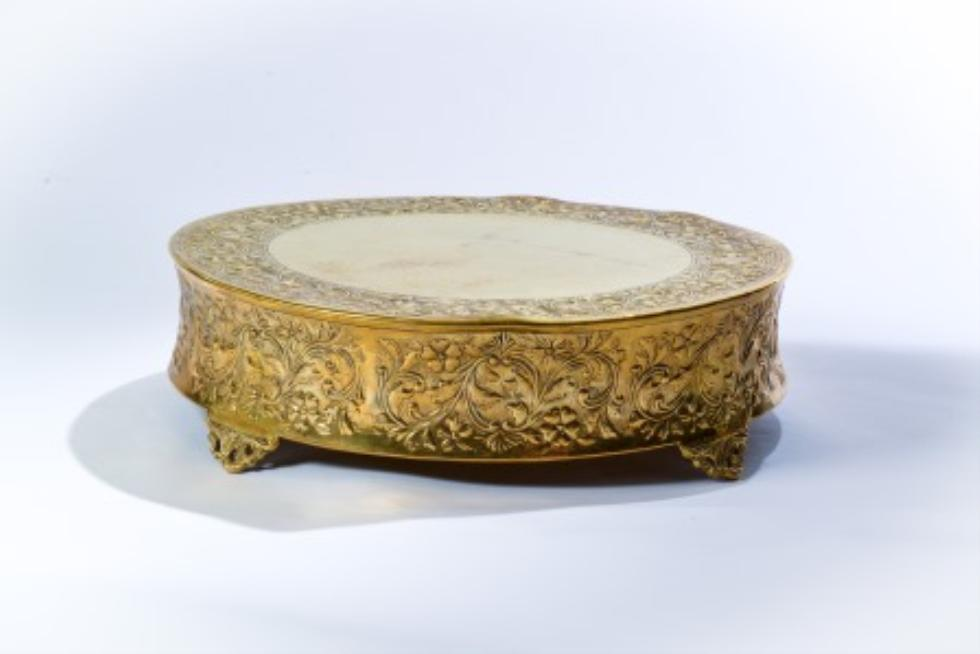 Gold Mosaic Cake Stand