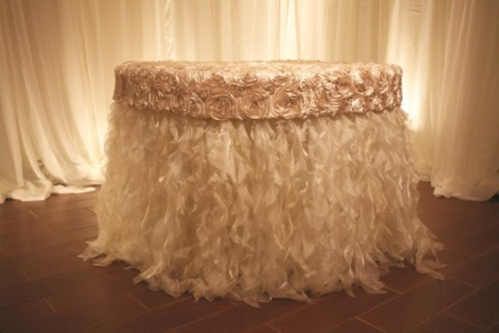 Marianne S Rentals Curly Willow Sparkle Organza Linen