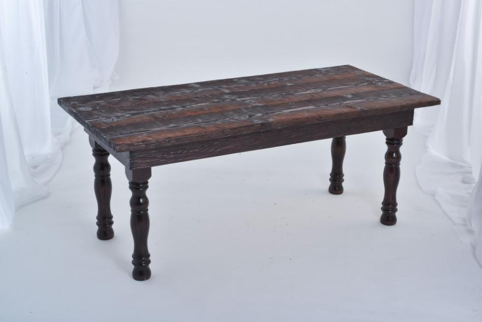 Mariannes Rentals Farm Table Dark Wood Rentals - Dark wood farm table