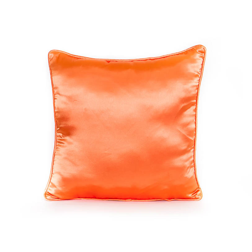Pillow: Satin Dark Orange Rentals