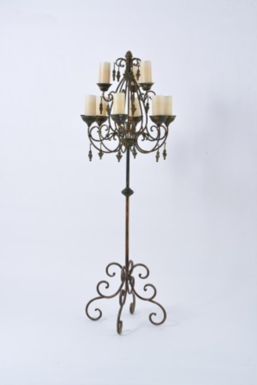 Marianne S Rentals Wrought Iron Vintage Floor Candle Rentals
