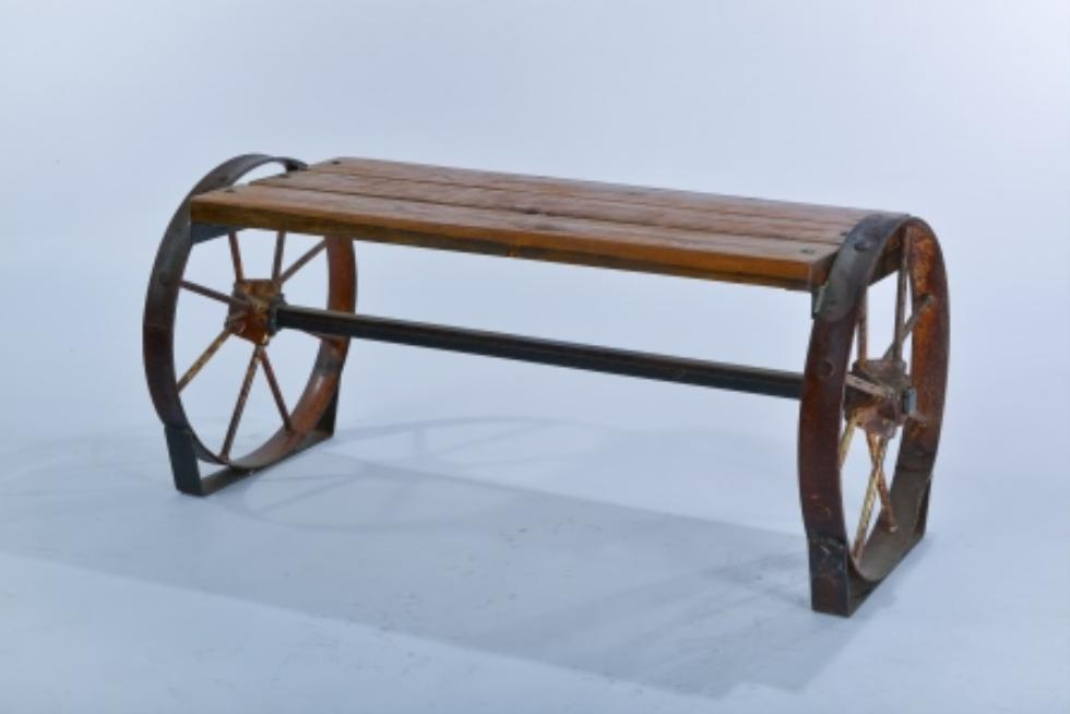 bench wheel sycamore creations cedar benches wagon creek