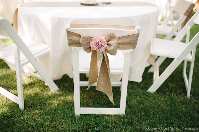 For The Couples That Want A More Vintage And Earthly Feel, Burlap Is A  Great Alternative To Satin Or Even Organza. Paired With A Blush Rosette,  These Chairs ...